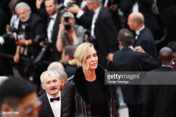 Un Certain Regard jury president Uma Thurman attends the 'Loveless ' screening during the 70th annual Cannes Film Festival at Palais des Festivals on...