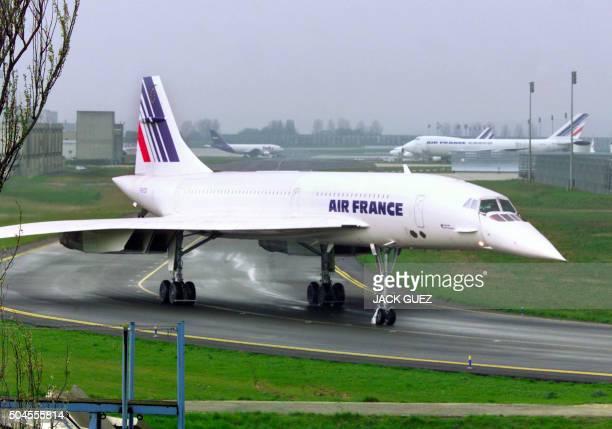 un Concorde de la compagnie Air France s'apprête à effectuer un vol de contrôle pour deux ou trois heures au dessus de la région LoireAtlantique le...