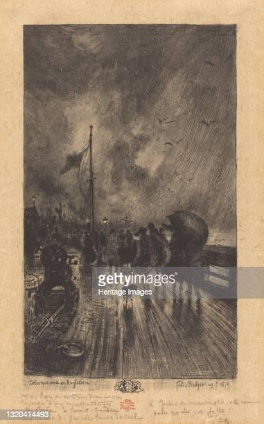 Un DÈbarquement en Angleterre , 1879. Artist Felix Hilaire Buhot.