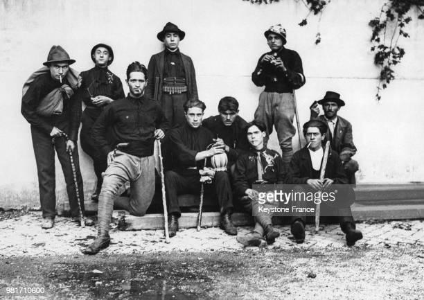 Un groupe de jeunes fascistes, ayant participé à la marche sur Rome, en Italie, en 1922.