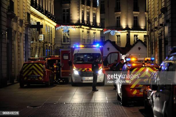 Un homme au volant d'une camionnette a fonce sur des passants au marche de Noel blessant 11 personnes dont 5 grievement le 22 Decembre 2014 sur la...