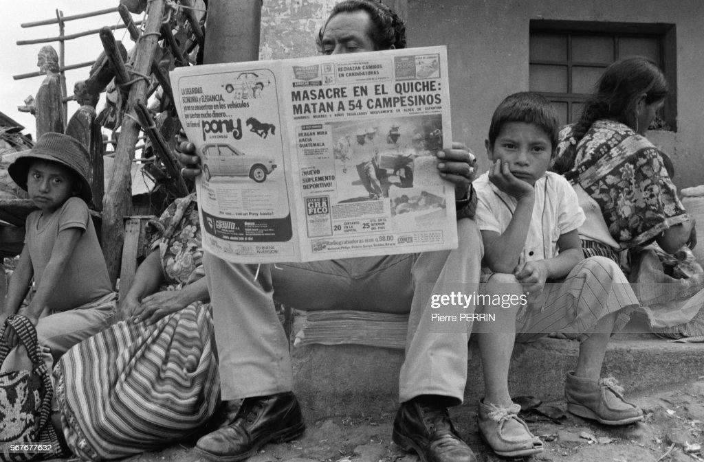 Tension lors des élections au Guatemala en 1982 : Fotografía de noticias