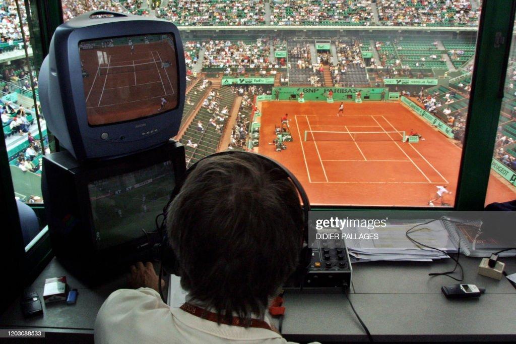 TENNIS-ROLAND GARROS-JOURNALISTE-ILLUSTRATION : News Photo