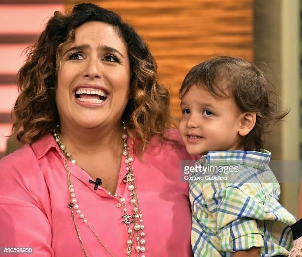 'Un Nuevo Dia' Celebrates Angelica Vale's Son's Birthday at Telemundo Studio on August 11 2017 in Miami Florida