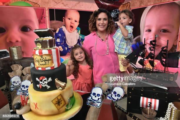 Un Nuevo Dia Celebrates Angelica Vale's Son's Birthday at Telemundo Studio on August 11 2017 in Miami Florida