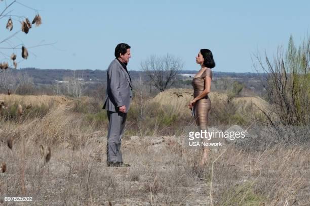 """Un Pacto con el Diablo"""" Episode 203 -- Pictured: Joaquim de Almeida as Don Epifanio Vargas, Veronica Falcon as Camila --"""