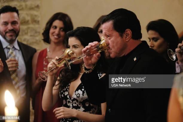 SOUTH Un Pacto con el Diablo Episode 203 Pictured Sandy Valles as Isabella Joaquim de Almeida as Don Epifanio Vargas