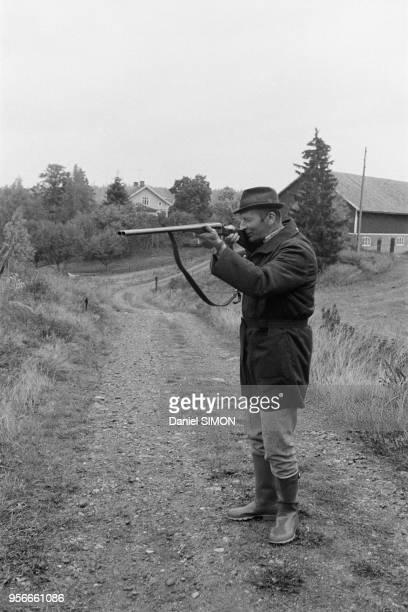 Un paysan part à la chasse en Suède en septembre 1973 Suède