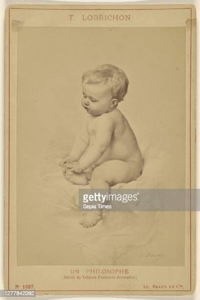 Un Philosophe by T. Lobrichon; Adolphe Braun & Cie ; 1880s; Albumen silver print.