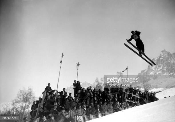 Un saut de 56 mètres de Jeandel à Chamonix France en 1946