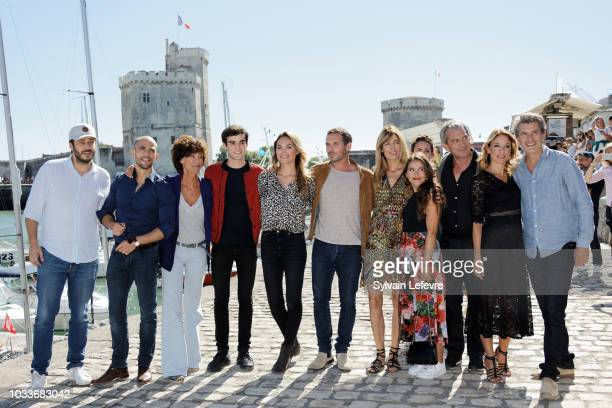 'Un si grand soleil' TV fiction team attends day 4 photocall of 20th Festival of TV Fiction on September 15 2018 in La Rochelle France