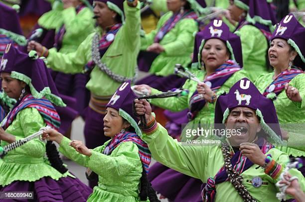 CONTENT] Una de las caravanas que desfilaron en el Carnaval de Oruro