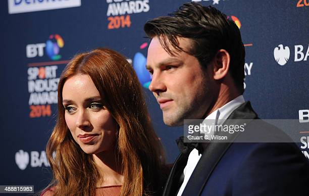 Una Foden and Ben Foden attend the BT Sport Industry Awards at Battersea Evolution on May 8 2014 in London England