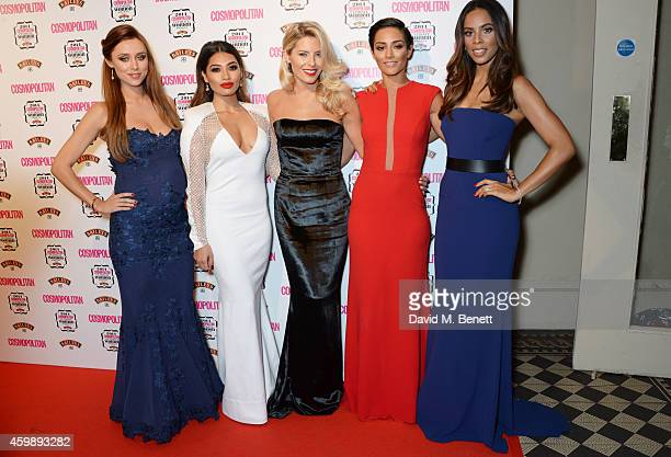 Una Foden Vanessa White Mollie King Frankie Bridge and Rochelle Humes of The Saturdays attend the Cosmopolitan Ultimate Women of the Year Awards at...