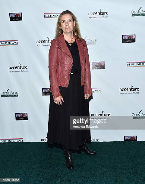 Una Fox arrives at the USIreland Alliance PreAcademy Awards Honors event at Bad Robot on February 19 2015 in Santa Monica California