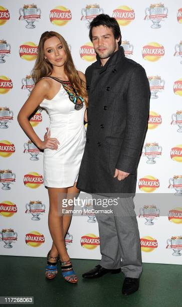 Una Healy and Ben Foden attend the Walkers Campaign Launch on March 29 2010 in London England