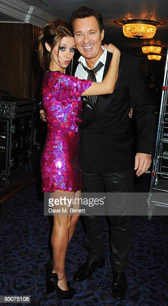Una Healy and Martin Kemp attend the Variety Club Showbiz Awards at the Grosvenor House on November 15 2009 in London England