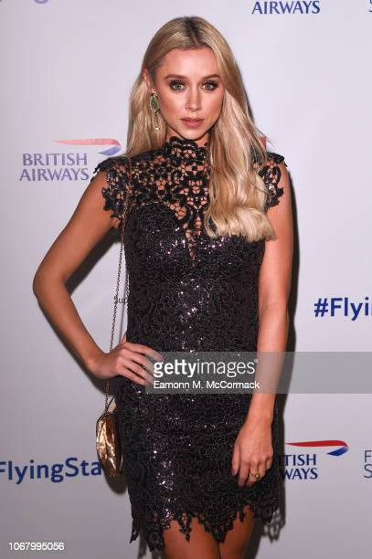 Una Healy attends British Airways champagne reception to celebrate the airline raising £20 million for Comic Relief through it's charity Flying Start...