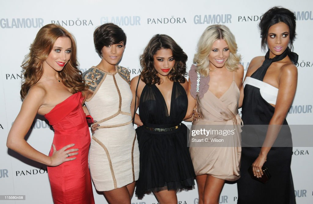 Una Healy, Frankie Sandford, Vanessa White and Mollie King of 'The Saturdays' attend Glamour Women Of The Year Awards at Berkeley Square Gardens on June 7, 2011 in London, England.