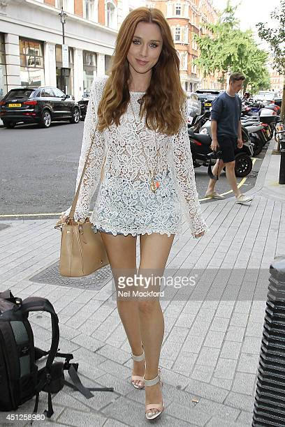 Una Healy seen at BBC Radio One on June 26 2014 in London England