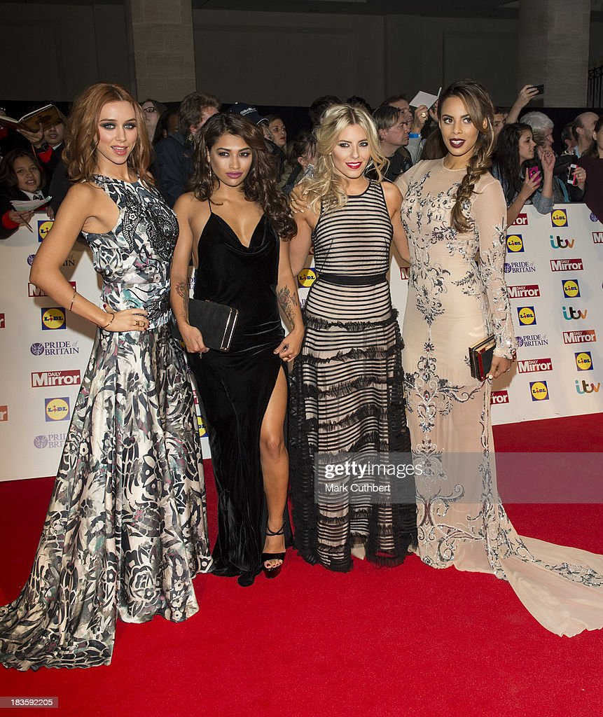 Una Healy, Vanessa White, Mollie King and Rochelle Humes attend the Pride of Britain awards at Grosvenor House, on October 7, 2013 in London, England.