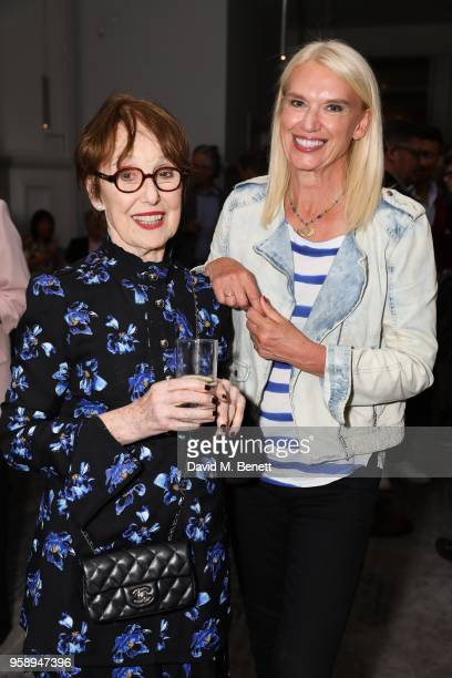 Una Stubbs and Anneka Rice attend the press night after party for Red at The National Cafe on May 15 2018 in London England