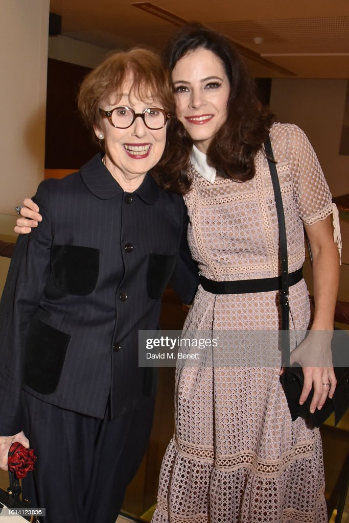 Una Stubbs (L) and Elaine Cassidy attend the press night after party for 'Aristocrats' at The Hospital Club on August 9, 2018 in London, England.