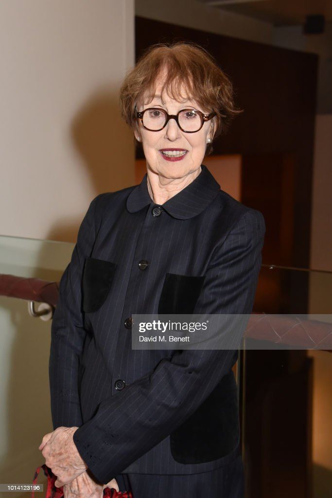 Una Stubbs attends the press night after party for 'Aristocrats' at The Hospital Club on August 9, 2018 in London, England.