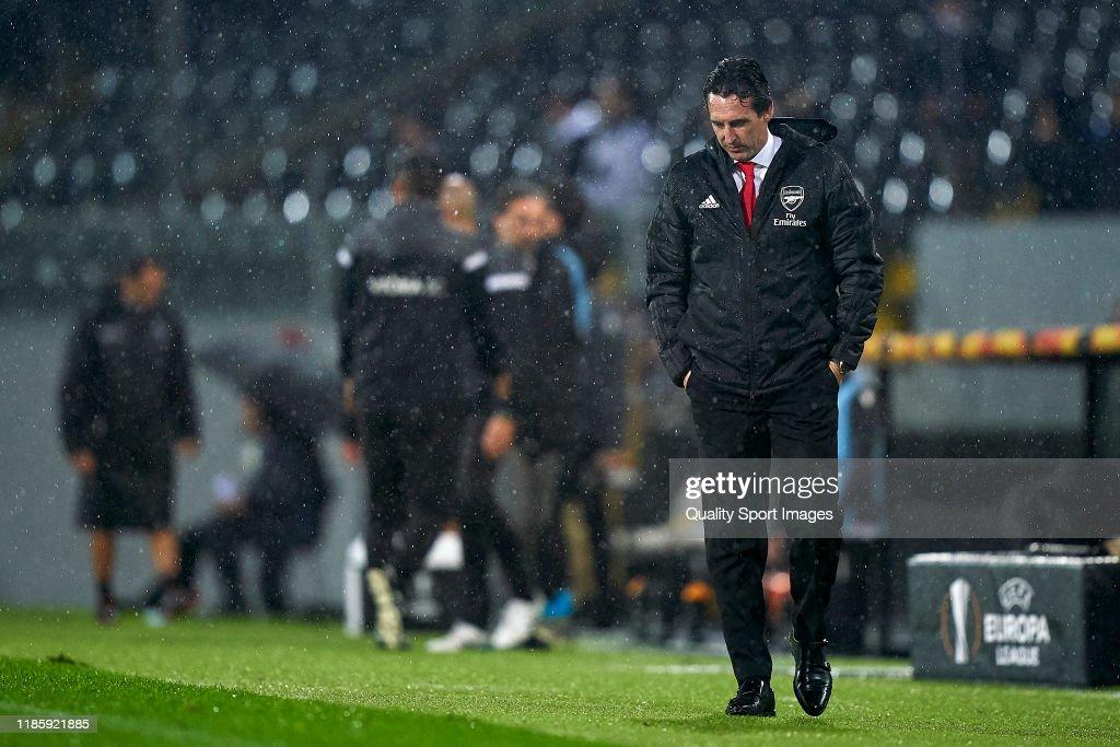 Vitoria Guimaraes v Arsenal FC: Group F - UEFA Europa League : News Photo