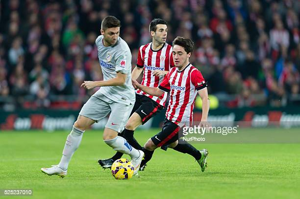 Unai Lopez in the match between Athletic Bilbao and Athletico Madrid for Week 16 of the spanish Liga BBVA played at the San Mames December 21 2014...