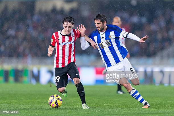 Unai Lopez in the match between Real Sociedad and Athletic de Bilbao for Week 15 of the spanish Liga BBVA played at the Anoeta December 14 2014 Photo...