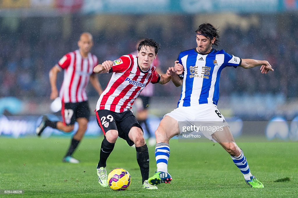 Unai Lopez in the match between Real Sociedad and Athletic ...