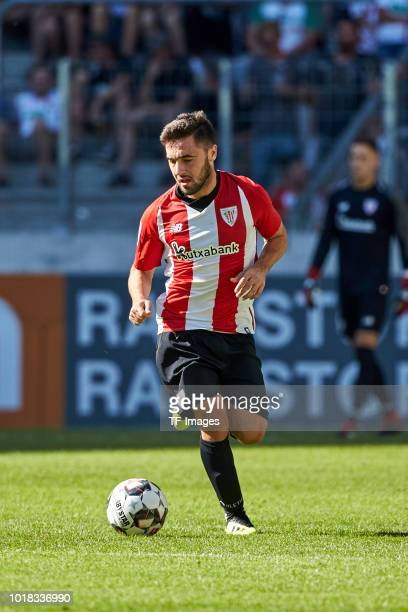 Unai Lopez of Athletic Bilbao controls the ball during the friendly match between FC Augsburg and Athletic Club Bilbao on August 12 2018 in Augsburg...