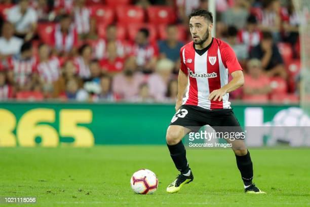 Unai Lopez of Athletic Bilbao during the La Liga Santander match between Athletic de Bilbao v Leganes at the Estadio San Mames on August 20 2018 in...