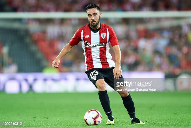 Unai Lopez of Athletic Club in action during the La Liga match between Athletic Club and CD Leganes at San Mames Stadium on August 20 2018 in Bilbao...