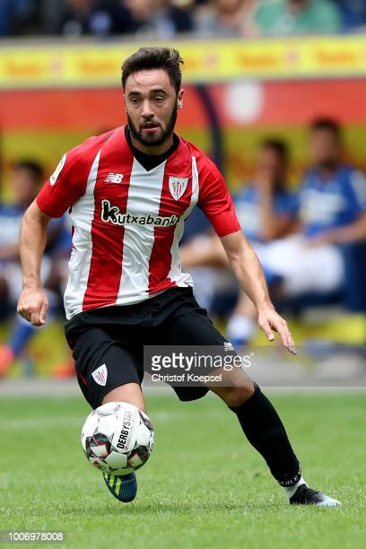 Unai Lopez of Bilbao runs with the ball during the third place match between MSV Duisburg and Athletic Bilbao at SchauinslandReisenArena on July 28...