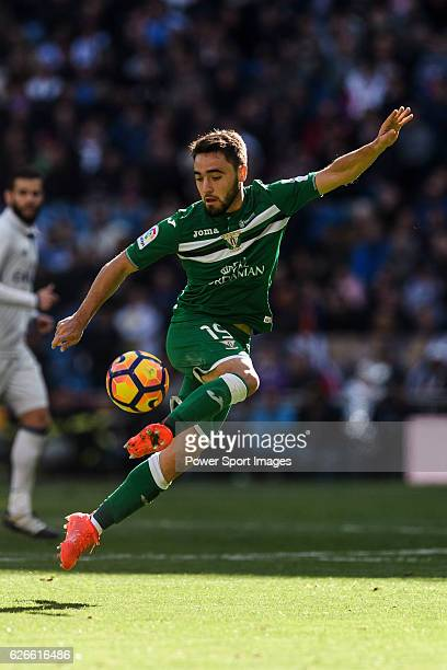 Unai Lopez of Deportivo Leganes in action during their La Liga match between Real Madrid and Deportivo Leganes at the Estadio Santiago Bernabeu on 06...