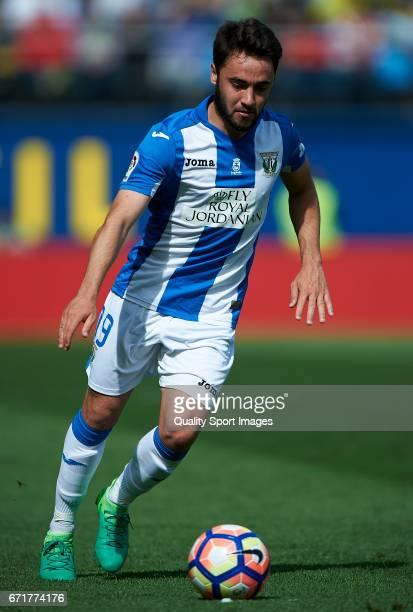 Unai Lopez of Leganes in action during the La Liga match between Villarreal CF and CD Leganes at Estadio de la Ceramica on April 22 2017 in...