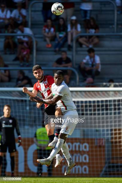 Unai Nunez of Athletic Bilbao and Sergio Cordova of FC Augsburg battle for the ball during the friendly match between FC Augsburg and Athletic Club...