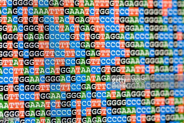 Unaligned DNA-Sequenzen Blick auf LCD-Bildschirm