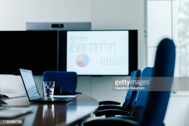 unattended conference table - 会議施設 ストックフォトと画像