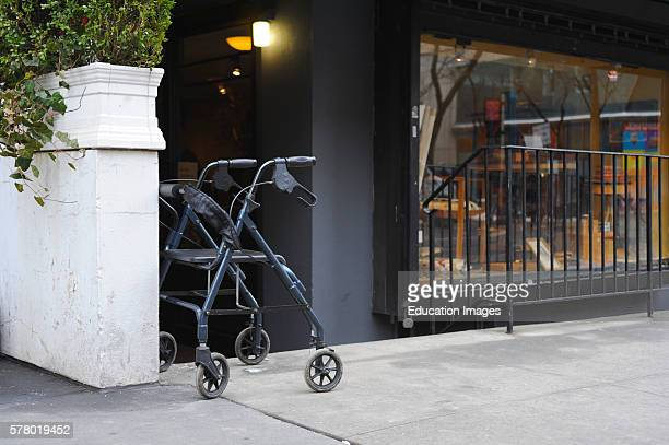 Unattended Rolling Walker Outside Doorway