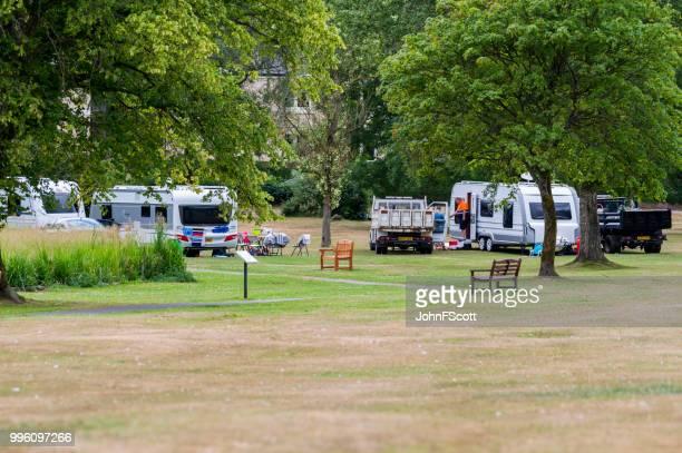 Unauthorised encampment of travellers