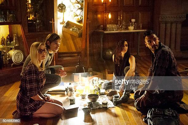 THE MAGICIANS 'Unauthorized Magic' Episode 101 Pictured Olivia Taylor Dudley as Alice Jason Ralph as Quentin Jade Tailor as Kady Arjun Gupta as Penny