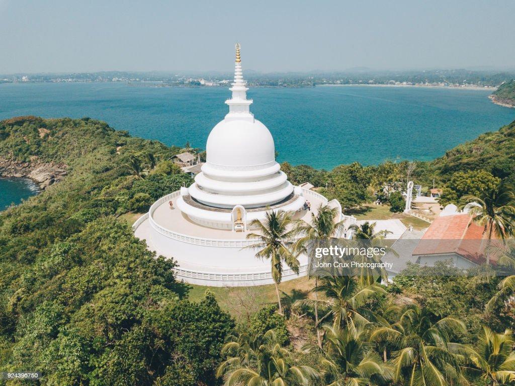 Unawatuna pagoda : Stock Photo