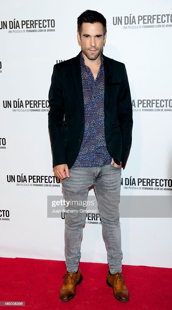 Unax Ugalde attends 'Un Dia Perfecto' premiere at Palafox Cinema on August 25, 2015 in Madrid, Spain.