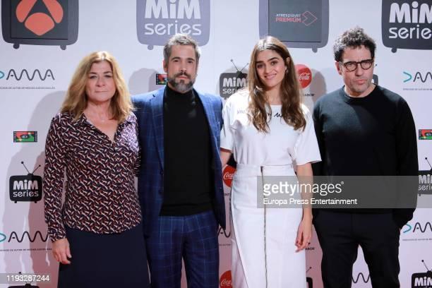 Unax Ugalde Olivia Molina and Daniel Ecija attend 'La Valla' photocall at Cinema Proyecciones on December 11 2019 in Madrid Spain