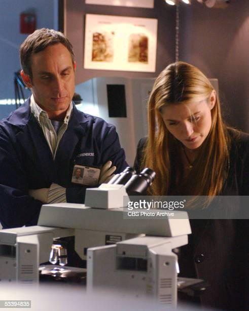 Unbearable Hodges and Sofia examine the evidence as the team investigates the murder of a hunter found on the outskirts of Las Vegas on CSI CRIME...