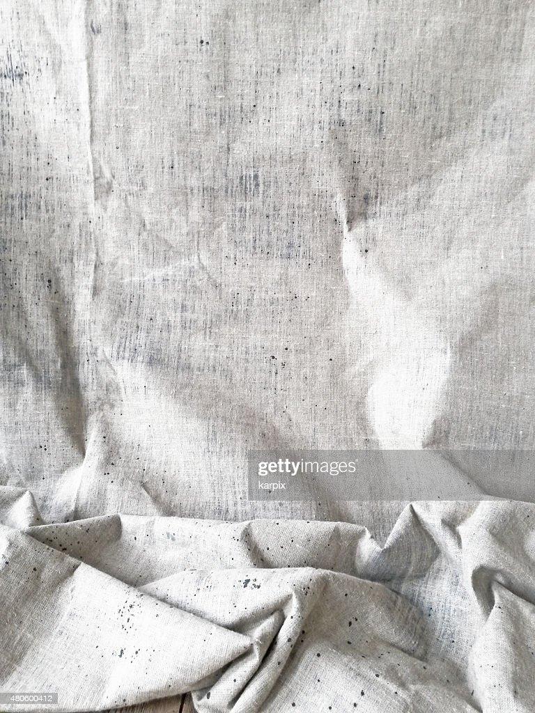 Unbleached linen : Stock Photo