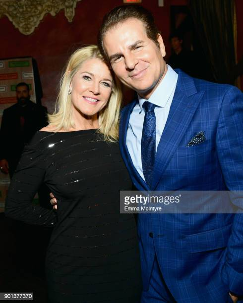 Unbridled Eve CoFounder Tonya York Dees and Vincent De Paul attend the SixthAnnual Star Studded Unbridled Eve Gala at Bardot on January 4 2018 in...